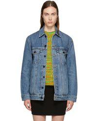 Alexander Wang - Indigo Oversized Denim Daze Jacket - Lyst
