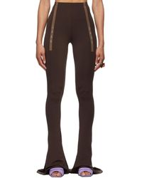 CHARLOTTE KNOWLES Ssense Exclusive Brown Ghater Trousers