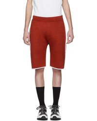 Neil Barrett - Red And White Slouch Low-rise Basketball Shorts - Lyst