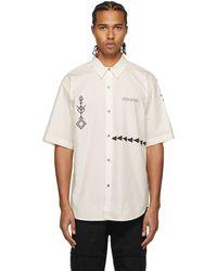 Marcelo Burlon オフホワイト Folk シャツ
