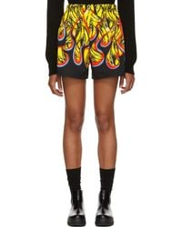 Prada - Multicolor Banana Flames Shorts - Lyst