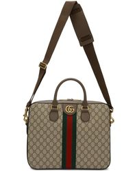 Gucci - ブラウン オフィディア GG ブリーフケース - Lyst