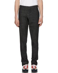 Thom Browne - Black Denim Unconstructed Low-rise Skinny Trousers - Lyst