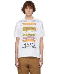 Junya Watanabe Max Halley エディション ホワイト プリント T シャツ