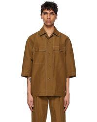 Lemaire Tan Pyjama Short Sleeve Shirt - Brown