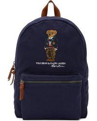 Polo Ralph Lauren ネイビー Bear バックパック - ブルー