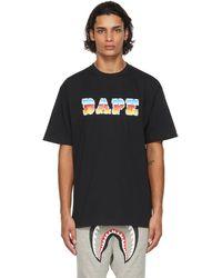 A Bathing Ape ブラック ロゴ T シャツ