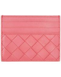 Bottega Veneta ピンク イントレチャート カード ケース