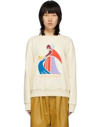 Lanvin Off-white Mother And Child Sweatshirt