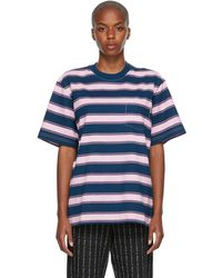 Noon Goons Blue & Purple Sands Stripe T-shirt