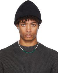The Viridi-anne Loop Pile Knit Cap - Black