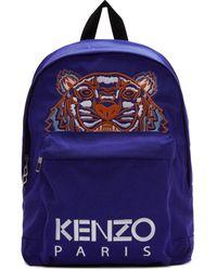 KENZO Tiger Logo Backpack - Blue