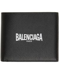 Balenciaga ブラック Paris ロゴ バイフォールド ウォレット