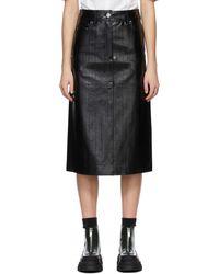 Stand Studio Faux-leather Arabella Skirt - Black
