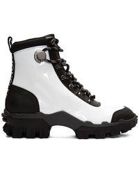 Moncler ホワイト And ブラック Helis ブーツ