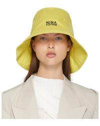 Nina Ricci Chapeau Tall jaune - Bleu