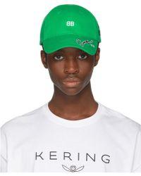 Balenciaga - Green Bb Cap - Lyst