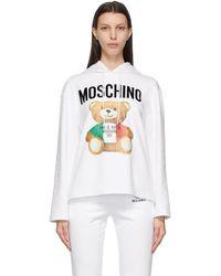 Moschino ホワイト Italian Teddy Bear フーディ
