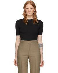 AMI ブラック フィット T シャツ