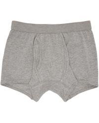 Comme des Garçons - Grey Plain Boxer Shorts - Lyst