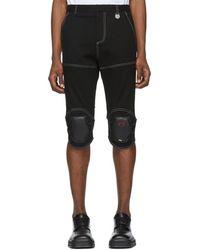 Xander Zhou Black Pad Knee Shorts