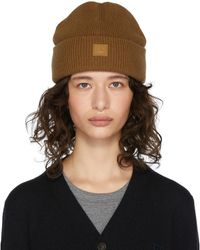 Acne Studios Brown Patch Beanie