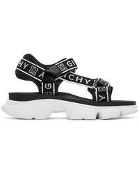 Givenchy - ブラック And ホワイト 4g Jaw サンダル - Lyst