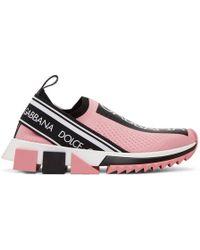 Dolce & Gabbana - Logo Sock Sneakers - Lyst