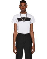 Random Identities T-shirt blanc et noir Anti Logo
