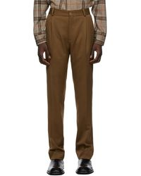 Han Kjobenhavn Pantalon brun Single Suit - Marron