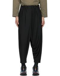 132 5. Issey Miyake Recycled Seamless Bottom Basic Trousers - Black