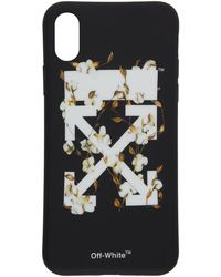 Off-White c/o Virgil Abloh - Black And White Cotton Flower Iphone X Case - Lyst