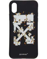Off-White c/o Virgil Abloh - Etui pour iPhone X noir et blanc Cotton Flower - Lyst
