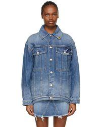 Givenchy ブルー オーバーサイズ 4g Chain デニム ジャケット