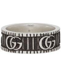 Gucci Bague à motif Double G en argent - Métallisé