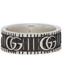 Gucci GG Marmont Silver Ring - Metallic