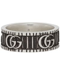 Gucci Silver Double G Ring - Metallic