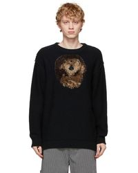 Doublet - ブラック Hand Knitting Jacquard セーター - Lyst
