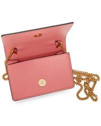 Versace ピンク ヴィルトゥス クロス ボディ カード ケース