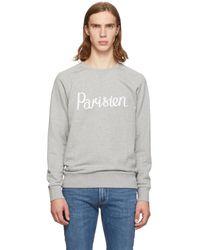 Maison Kitsuné - Grey Parisien Sweatshirt - Lyst