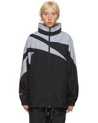 MISBHV Black And Grey Reebok Edition Windbreaker Jacket