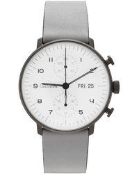 Junghans Montre max bill chronoscope grise