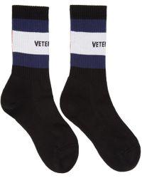 Vetements - Black Tommy Hilfiger Edition Logo Socks - Lyst