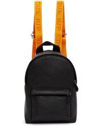 Heron Preston Black Mini Leather Backpack