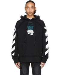 Off-White c/o Virgil Abloh Black Dripping Arrows Incompiuto Hoodie