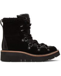 Rag & Bone - Black Shearling Skyler Boots - Lyst