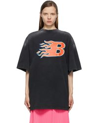 Balenciaga ブラック Flame T シャツ