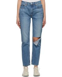 RE/DONE Indigo 70s Straight Jeans - Blue