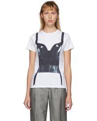Alexander McQueen Basque-print T-shirt - White