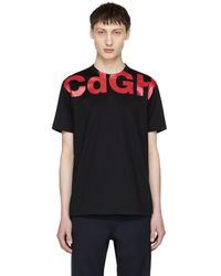 Comme des Garçons - Navy And Red Cdgh Logo T-shirt - Lyst